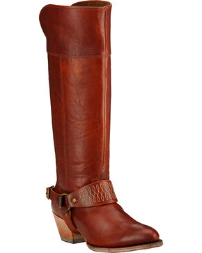 Ariat Sadler Cedar Brown Women's Riding Boots - Round Toe , Cedar, hi-res