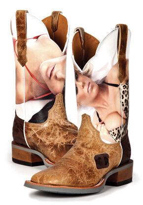 Cinch Edge Men's Wildcat Western Boots - Square Toe, Brown, hi-res