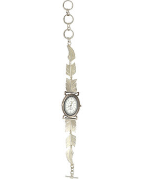 "Montana Silversmiths ""A Graceful Movement"" Feather Link Watch, Silver, hi-res"