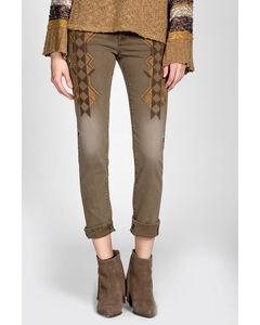 MM Vintage by Miss Me Brown Embroidered Jeans - Skinny Leg, , hi-res