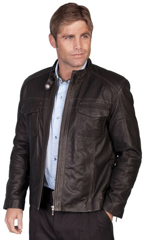 Scully Plonge Leather Jacket, Black, hi-res