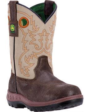 John Deere Growin' Like A Weed Boots - Round Toe , Grey, hi-res