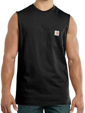 Carhartt Workwear Pocket Sleeveless Shirt - Big & Tall, Black, hi-res