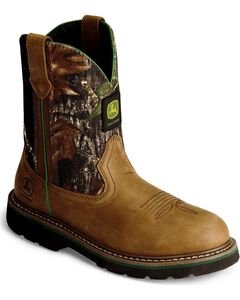 John Deere Youth Boys' Camouflage Boot - Round Toe, , hi-res