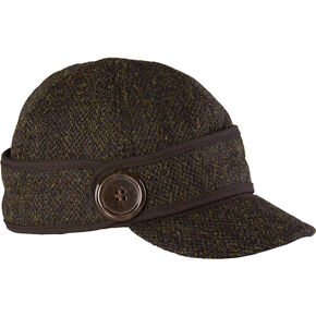 Stormy Kromer Women's Harris Tweed The Button Up Cap, Dark Brown, hi-res