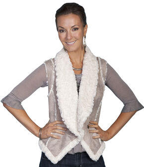 Scully Lightweight Faux Shearling Vest, Sand, hi-res