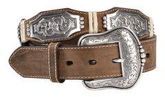 Ariat Scalloped Long Concho Belt, , hi-res