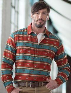 Ryan Michael Men's Serape Stripe Print Shirt, , hi-res