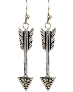 Montana Silversmiths Sparks Will Fly True Arrow Earrings, , hi-res