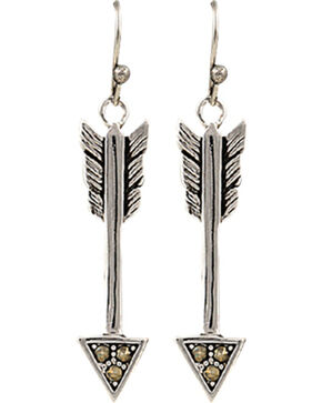 Montana Silversmiths Sparks Will Fly True Arrow Earrings, Silver, hi-res