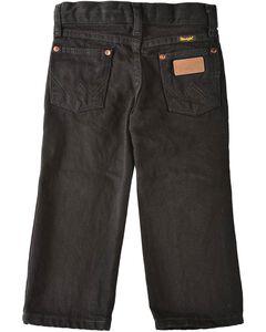 Wrangler Toddler Boys' Cowboy Cut Jeans - Black  - 1T-3T, , hi-res