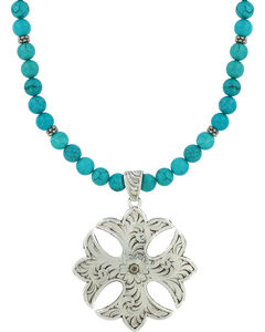 Montana Silversmiths Earth and Sky Cross Necklace, , hi-res