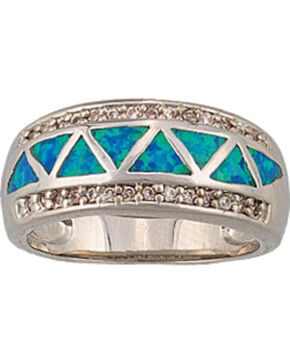 Montana Silversmiths Trickle Creek Opal Ring, Silver, hi-res