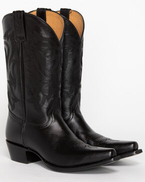 Shyanne Women's Black Cowgirl Boots - Snip Toe, Black, hi-res