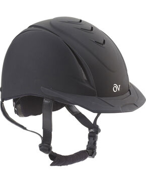 Ovation Kids' Schooler Deluxe Riding Helmet, Black, hi-res