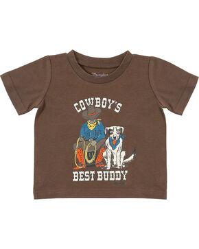 Wrangler Infant Boys' Brown Best Buddy Tee, Brown, hi-res