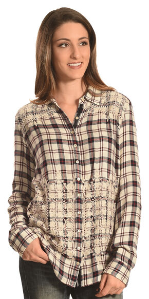 Johnny Was 3J Workshop Women's Lizette Button Back Shirt , Multi, hi-res
