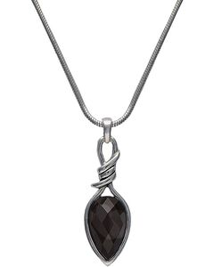 Montana Silversmiths Bittersweet Barbed Wire Pear-Shaped Black Onyx Necklace, , hi-res