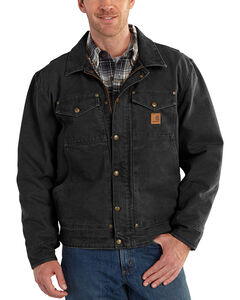 Carhartt Men's Black Berwick Jacket - Big & Tall, , hi-res