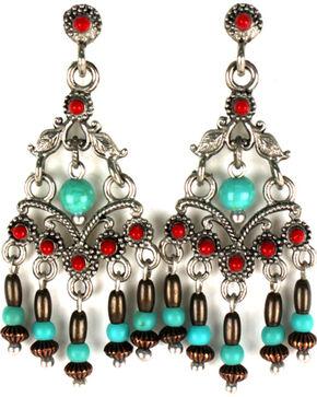 Treska Women's Consuela Chandelier Earrings , Turquoise, hi-res