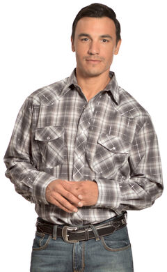 Gibson Trading Co. Grey Plaid Lurex Shirt, , hi-res