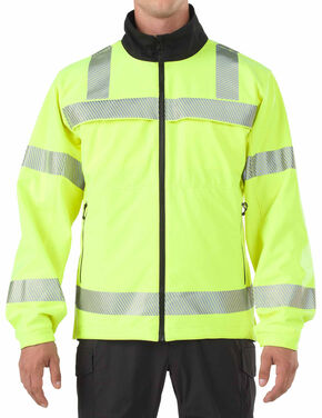 5.11 Tactical Reversible High-Vis Softshell Jacket, Yellow, hi-res
