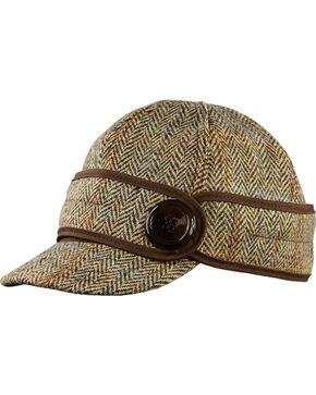 Stormy Kromer Women's Brown Harris Tweed The Button Up Cap, Multi, hi-res