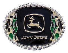 Montana Silversmiths John Deere Attitude on Fire Belt Buckle, , hi-res