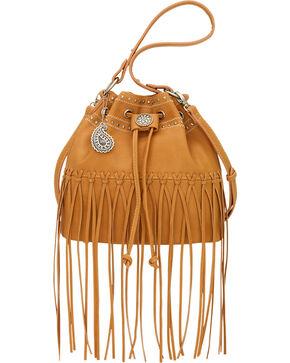 Bandana by American West Tan Rio Rancho Drawstring Crossbody Bag, Tan, hi-res