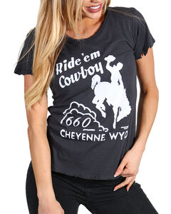 Bandit Women's Ride 'Em Cowboy Tee, Black, hi-res