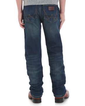 Wrangler Retro Boys' (8-18) Slim Stretch Jeans - Straight , Blue, hi-res