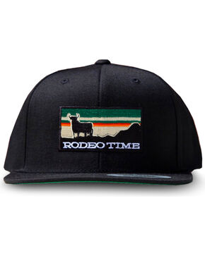 Dale Brisby Men's Rodeo Time Sunset Snapback Cap , Black, hi-res