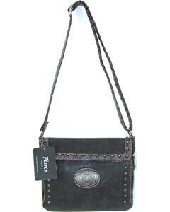 Savana Women's Fierce Conceal Carry Croco Trim Crossbody Purse , Black, hi-res