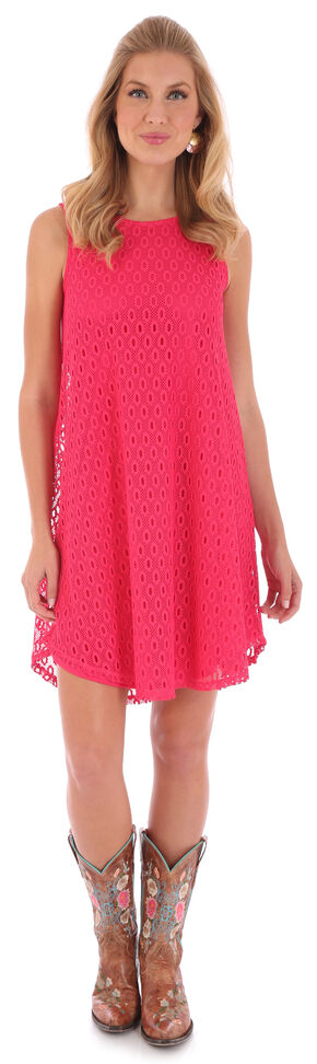 Wrangler Rock 47 Women's Pink Sleeveless Swing Dress , Pink, hi-res