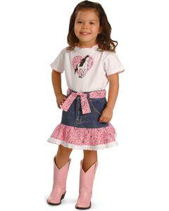 Kiddie Korral Girls' Horse Bandana Skirt Set - 2-6, , hi-res
