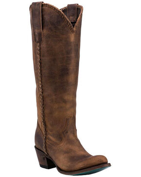 Lane Plain Jane Brown Cowgirl Boots - Round Toe , Brown, hi-res