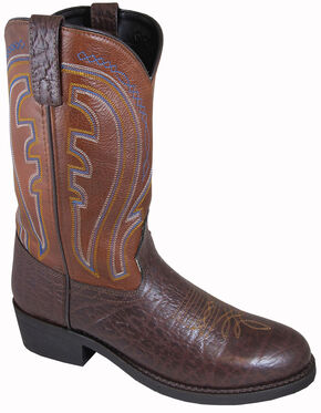 Smoky Mountain Men's Workman Leather Western Boots - Round Toe, Brown, hi-res
