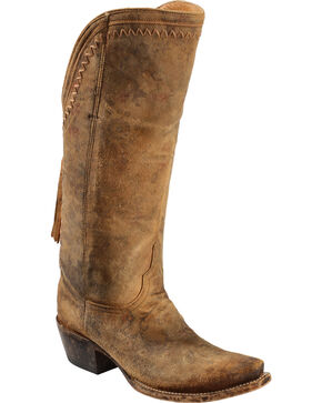 Lucchese Handmade 1883 Women's Vera Cowgirl Boots - Snip Toe, Brown, hi-res