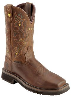 Justin Women's Pull-On Work Boots - Comp Toe, , hi-res