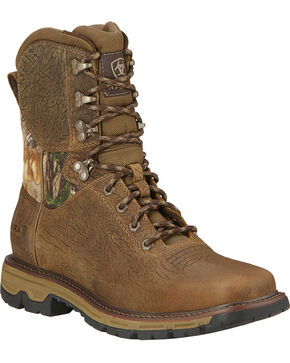 "Ariat Men's 8"" Conquest Waterproof Hunting Boots, Brown, hi-res"