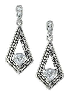Montana Silversmiths Women's Roped Kite Treasure Earrings, , hi-res