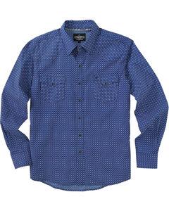 Garth Brooks Sevens by Cinch Blue Diamond Print Western Shirt , , hi-res
