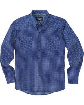 Garth Brooks Sevens by Cinch Blue Diamond Print Western Shirt , Blue, hi-res