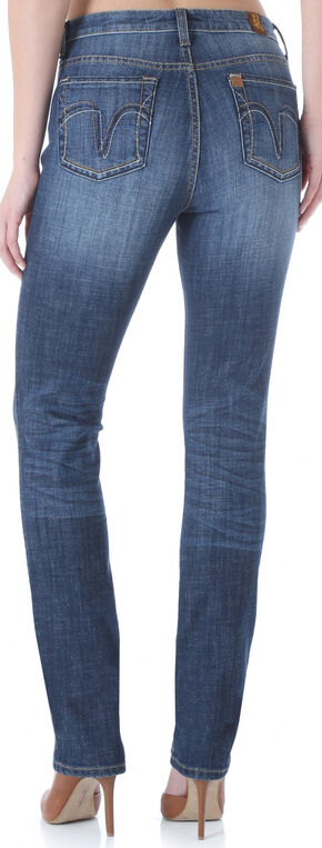 Wrangler Aura Women's Instantly Slimming Booty Up Straight Leg Jeans, Indigo, hi-res
