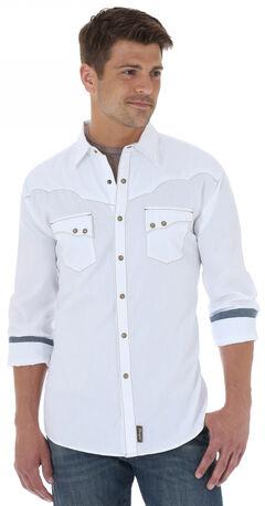 Wrangler Men's Retro Solid White Shirt, , hi-res
