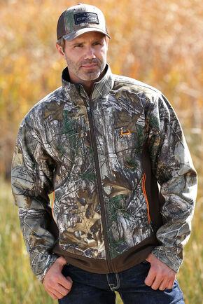 Cinch Men's Realtree Max 5 Camo Heavyweight Bonded Fleece Jacket, Camouflage, hi-res