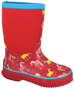 Smoky Mountain Youth Girls' Horsin' Around Waterproof Boots, , hi-res