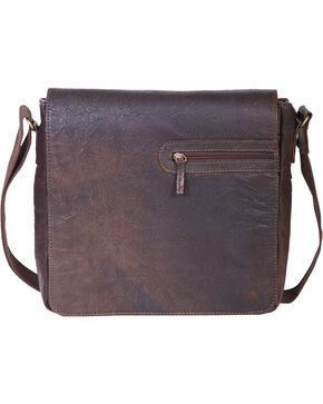 HiDesign by Scully Leather Messenger Briefcase, Brown, hi-res
