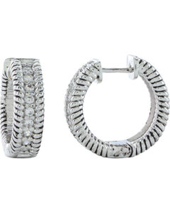 Montana Silversmiths Roped in Brilliance Hoop Earrings, , hi-res