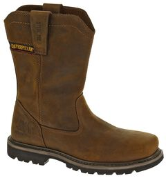 Caterpillar Wellston Pull-On Work Boots - Steel Toe, , hi-res